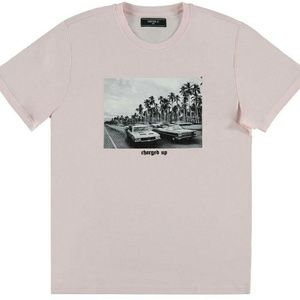 Baby pink graphic tee